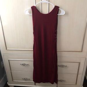 Burgundy Petite Dress
